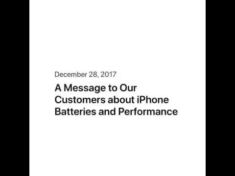 Apple's Apology Letter for Slowing Old iPhones !