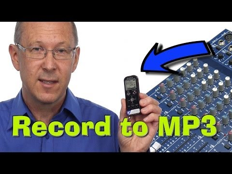 Record to MP3 from an Audio Mixer to a personal recorder