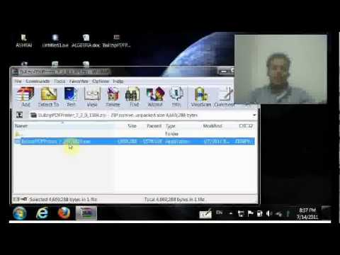 How to use bullzip pdfprinter to convert to pdf or jpg