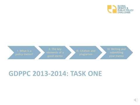 GDPPC 2013-2014 Webinar: Preparing your policy memo