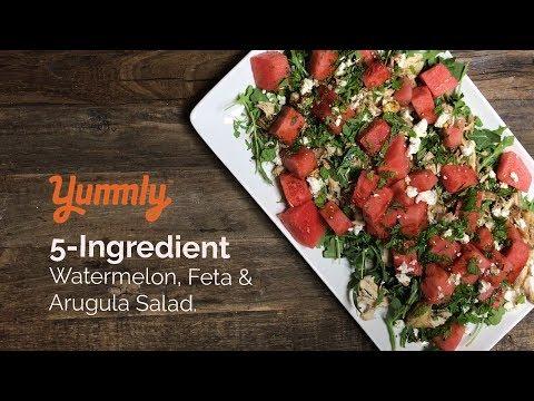 5-Ingredient Watermelon, Feta & Arugula Salad