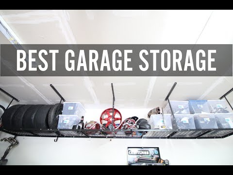 DIY Garage Build Pt. 2 Installing Overhead storage & Painting!