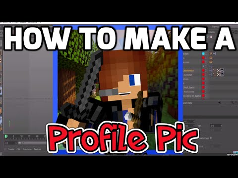(EASY) How-to Make a Minecraft Profile Picture! (CINEMA 4D)