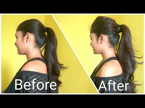 Volumized Ponytail Hairstyle For Medium Hair | The perfect high Ponytail For School, College & Work