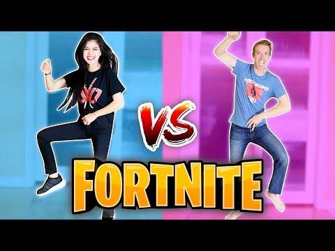 FORTNITE DANCE CHALLENGE in REAL LIFE (All Season 4 Dances) vs Chad Wild Clay