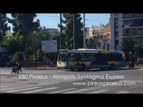 Bus Line X80 Piraeus   Akropolis Syntagma Express