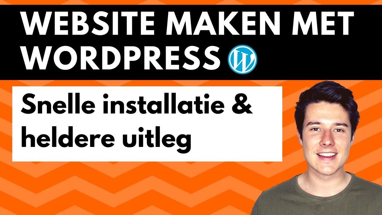 Website maken met WordPress | Wordpress voor beginners