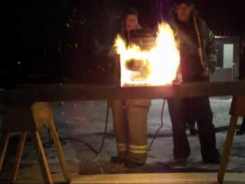 Engineered Joist vs 2x10 Flame Test