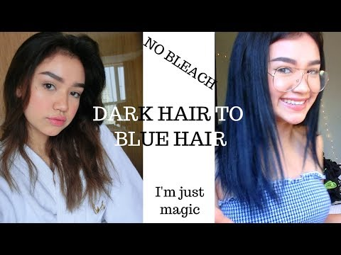 existencial crisis: Dyeing my Dark Hair Blue