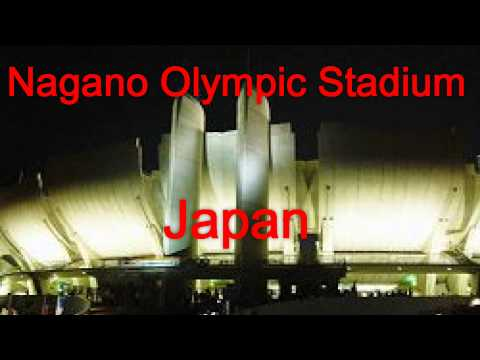 Japan Travel: Olympic Facilities unique architecture, Japan Nagano No.034