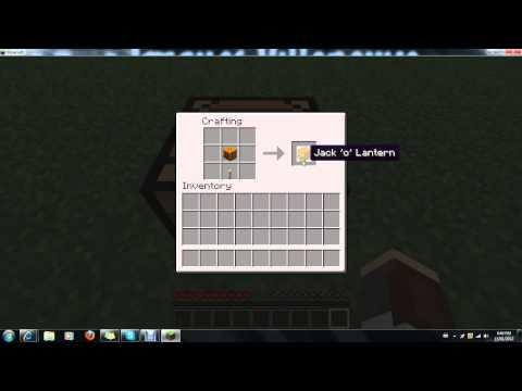 minecraft crafting jack-O-lantern