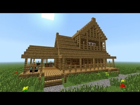 MINECRAFT: How to build little wooden house (2nd floor)