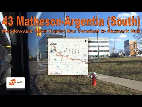 43 Matheson-Argentia (South) - MiWay 2017 Nova Bus LFS 1761 (Meadowvale Ctr Terminal to Skymark Hub)