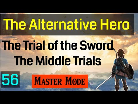 Master Mode Breath of the  Wild -  The Middle Trials Guardian Rounds are Tricky - 056