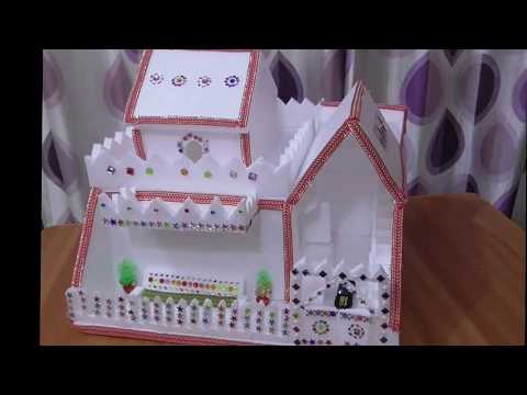 DIY - Thermocol House || How To Make House || Thermocol Craft For School Project