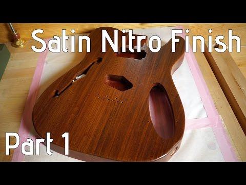 Nitrocellulose over oil?? Satin nitro guitar finish part 1/2
