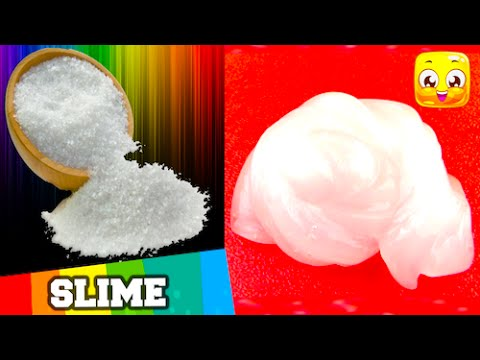 How To Make Slime With Glue and Water and Salt Only Without Borax, Liquid Starch DIY Clear Jelly