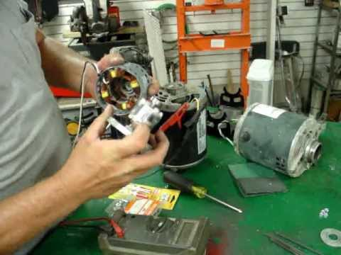 AC INDUCTION MOTOR CONVERSION TO AC PERMANENT MAGNET GENERATOR FUN