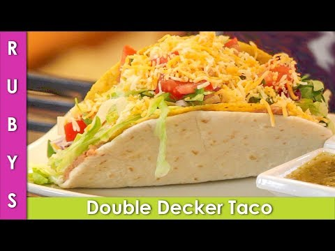 Double Decker Taco Recipe with Fire Sauce Ground Chicken Taco Bell Copycat - CWR