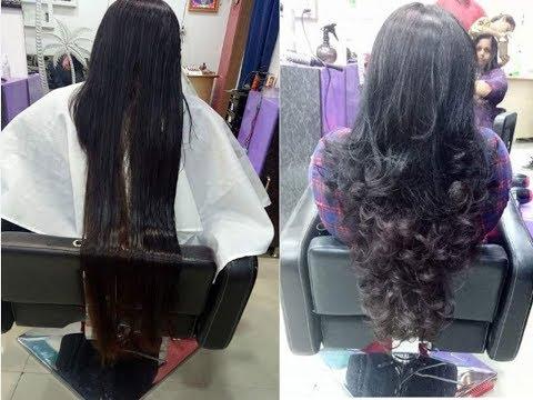 Indian women long hair  to short  at parlour  ||Long haircut