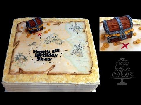 Treasure map cake - TUTORIAL