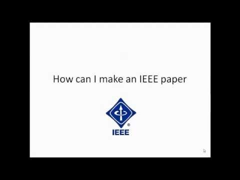 How can i prepare my own IEEE paper