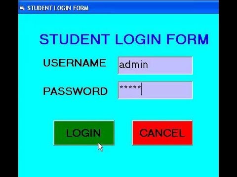 Student Login Form  Using Visual Basic 6.0 tutorial-Quick and easy