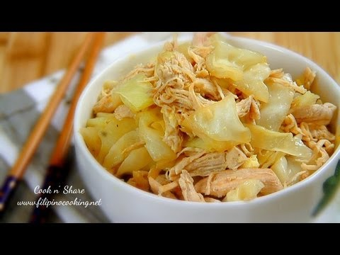 Stir Fried Cabbage with Chicken