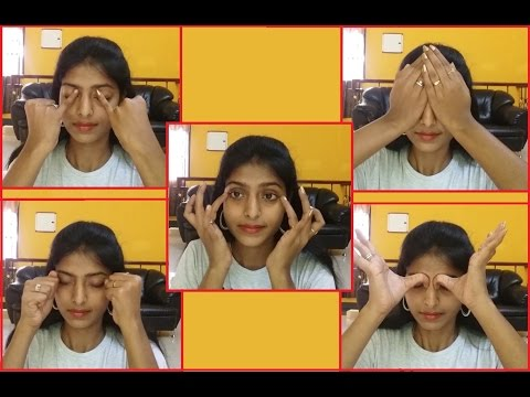 Simple Eye Exercises To Reduce Dark Circles | Dark Circle Remedy Cont.. | Home Treatment
