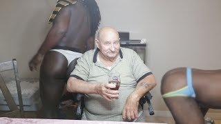 Surprising Grandpa with Strippers Prank!