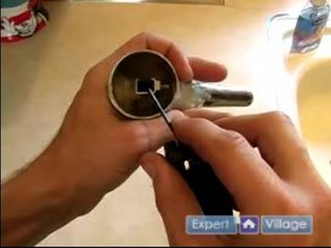 How to Fix a Faucet : How to Tighten a Kitchen Sink Handle