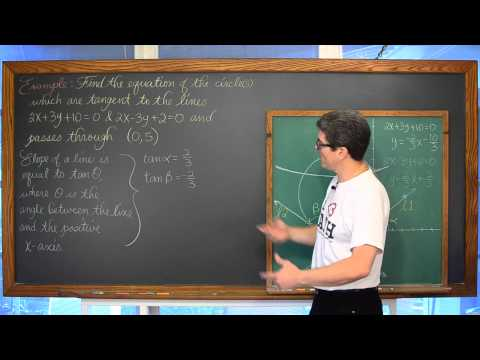Equation of Circle Given 2 Tangent Lines and a Point