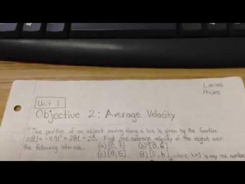 Calculus: Average Velocity