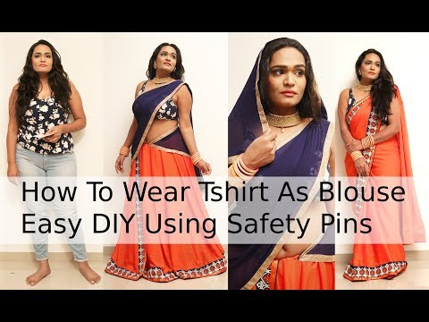 how to wear saree & lahenga without stitch blouse | No Sewing No Cutting | ব্লাউজগুলি এবং শাড়ি পরুন