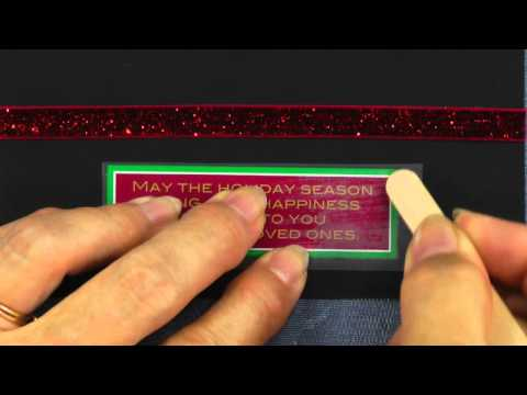 How to Apply Rub-on Transfers to Cards