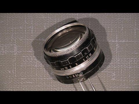 Workin with aperture blades in Non-ai Nikkor-H AUTO 1:3.5 f=2.8cm  Nippon Kogaku