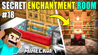 I MADE SECRET UNDERGROUND ROOM FOR ENCHANTMENT | MINECRAFT GAMEPLAY#18 | HS GAMING