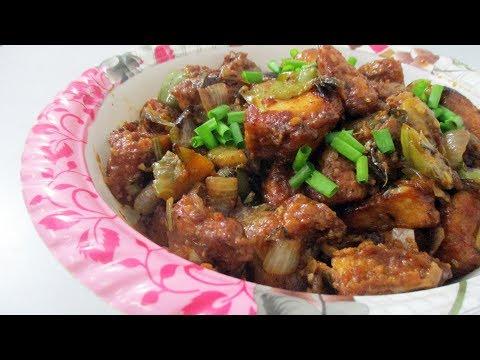 Dry Chilli Chicken Recipe in Hindi
