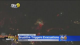 Firefighters Aggressively Knock Down Brush Fire In Monrovia