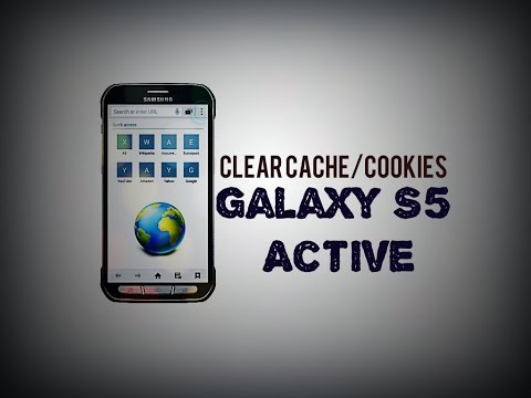 Clear the cache/cookies Samsung Galaxy S5 Active