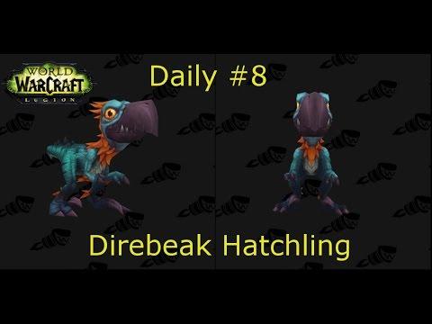 Direbeak Hatchling Day #8 | Buying Fake Teeth | World of Warcraft: Legion