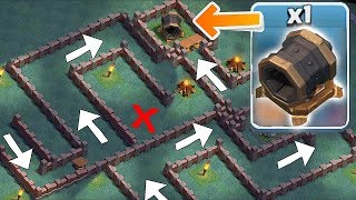 GIANT CANNON MAZE BASE!! | clash of clans | TROLL BASE!