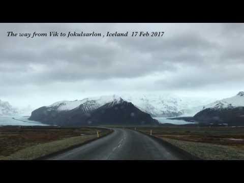 From Vik to Jokulsarlon Glacier lagoon ! Iceland ,17 Feb 2017