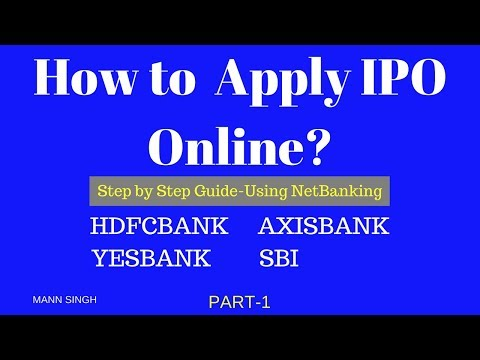 How to Apply IPO Online via Netbanking-HDFCBANK Part 1