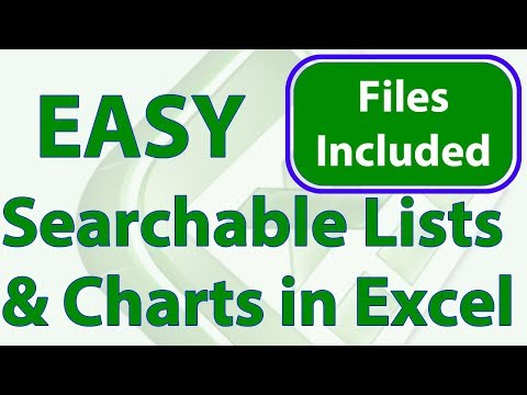 Searchable Lists in Excel - Easy Method