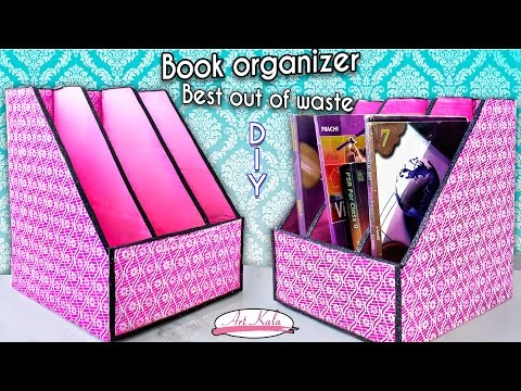How to make book holder | Book organizer | Best out of waste | DIY | Artkala 144