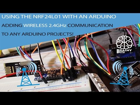 Wireless communication between two Arduino using the NRF24L01 2.4GHz module - Tutorial