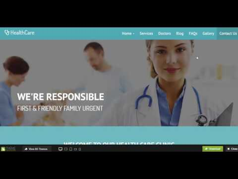 Healthcare   Medical Hospital Responsive Templates with HTML5 and Bootstrap 3