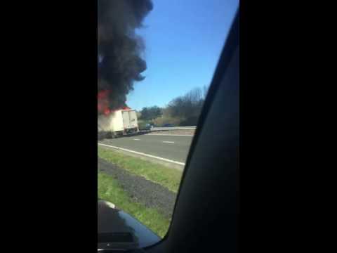 Scotland Fife a92 truck crash fire