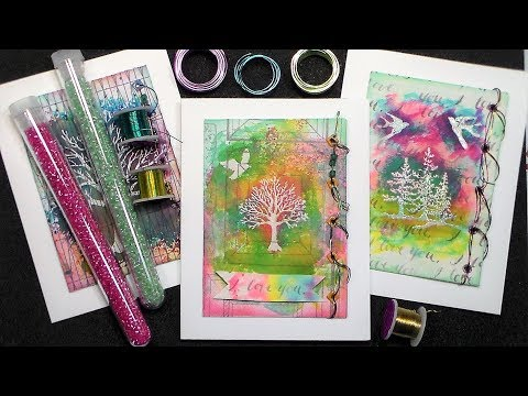 New Cards with Old supplies (and some Junk!) Trash to Treasure!